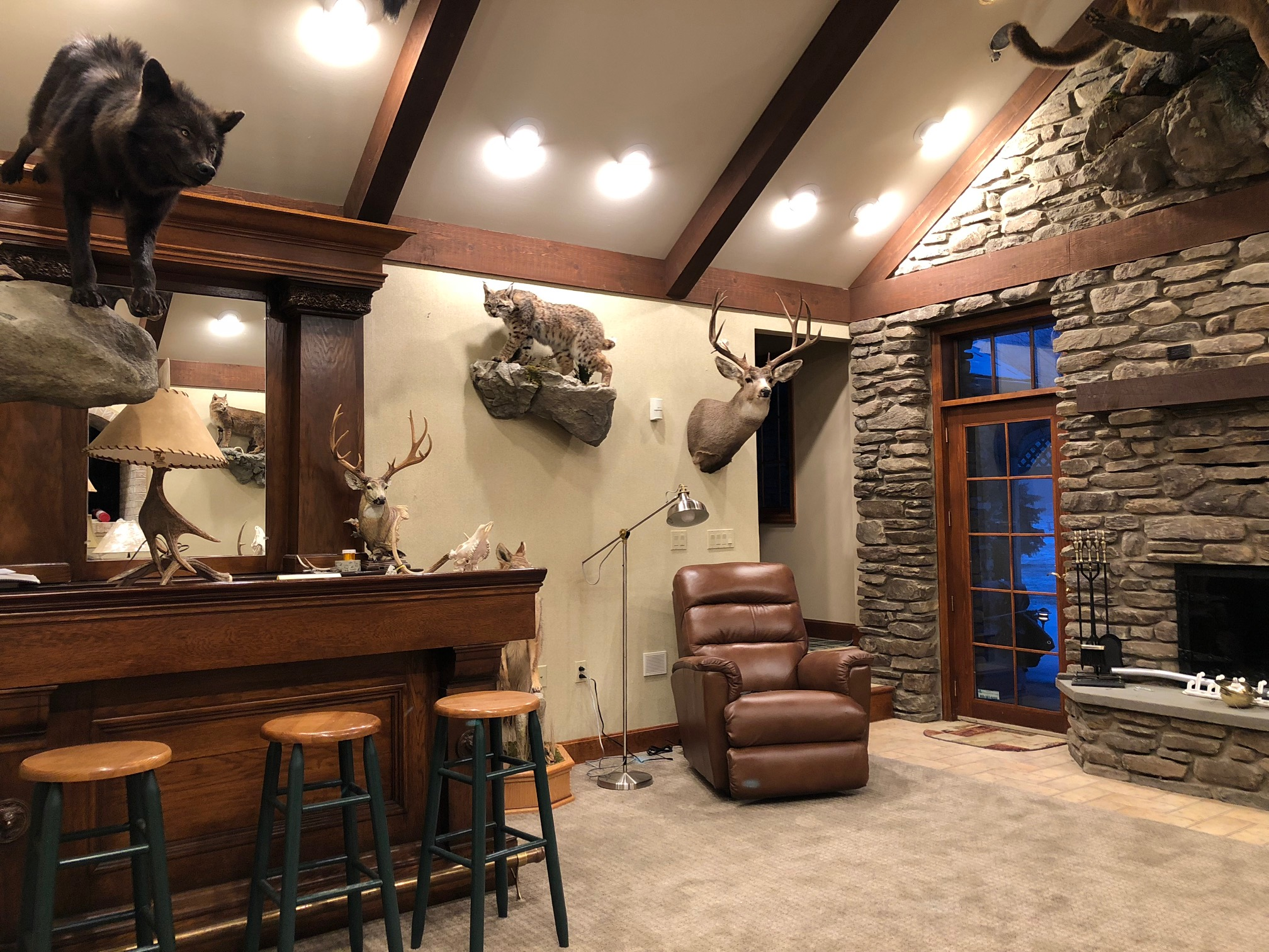 Trophy Room Lighting Upgrade Anthracite Electric